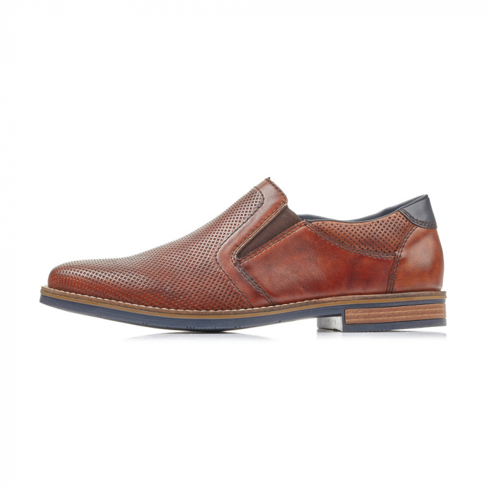 Pantofi barbati de vara, rieker 13571-24, coniac 5