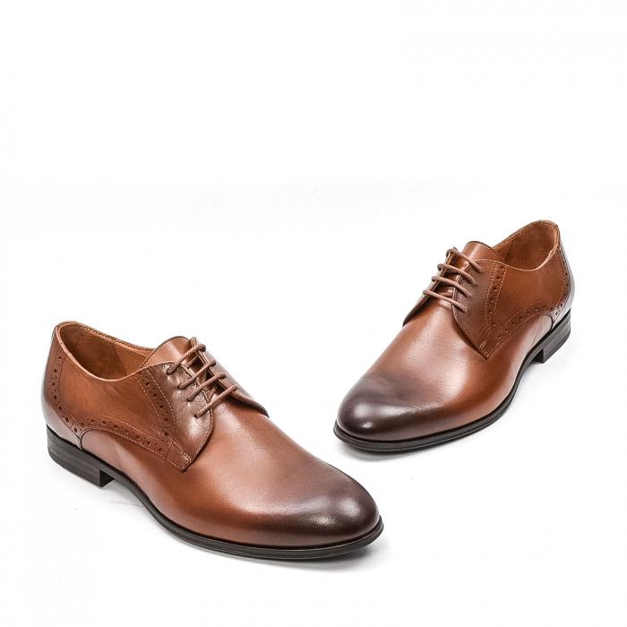 Pantofi barbati eleganti, piele naturala LFX 512, coniac 1