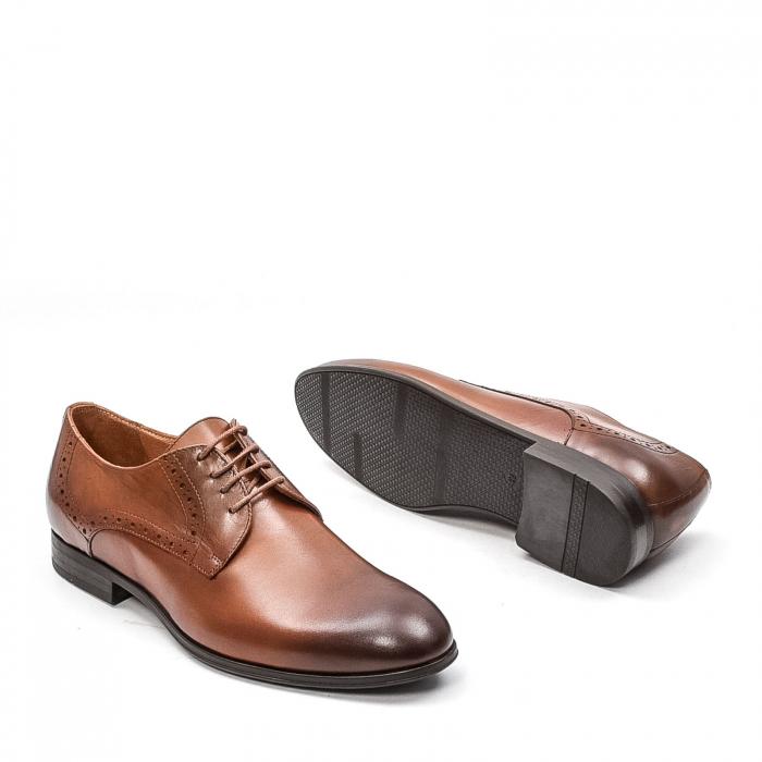Pantofi barbati eleganti, piele naturala LFX 512, coniac 3