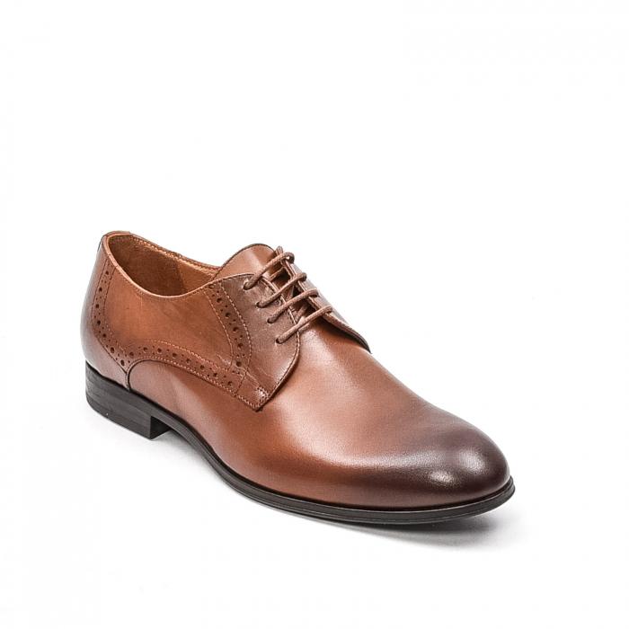 Pantofi barbati eleganti, piele naturala LFX 512, coniac 0