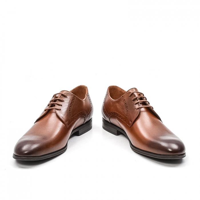 Pantofi barbati eleganti, piele naturala LFX 512, coniac 4