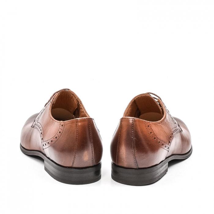 Pantofi barbati eleganti, piele naturala LFX 512, coniac 6