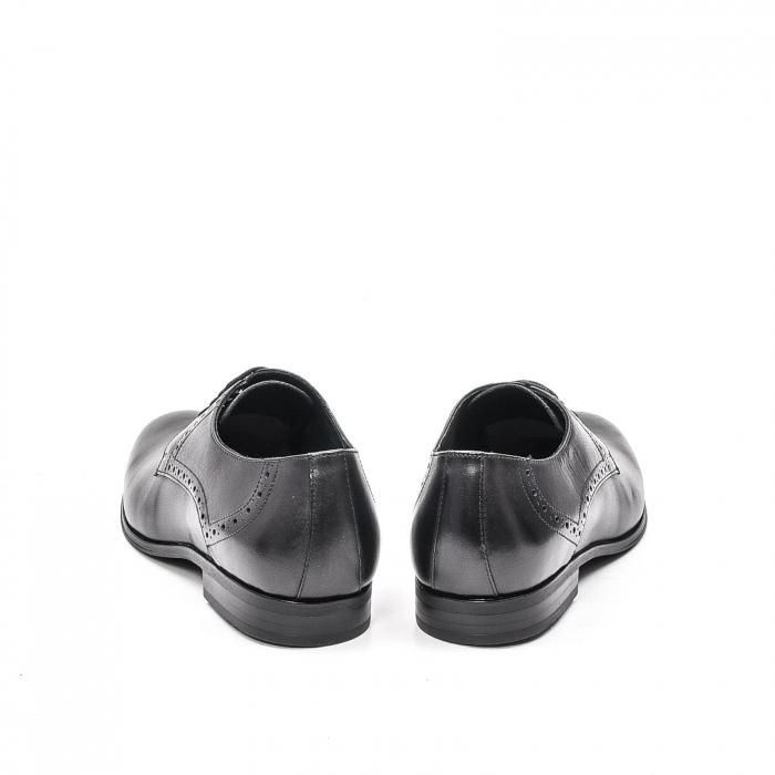 Pantofi eleganti barbat, piele naturala LFX 512, negru 6