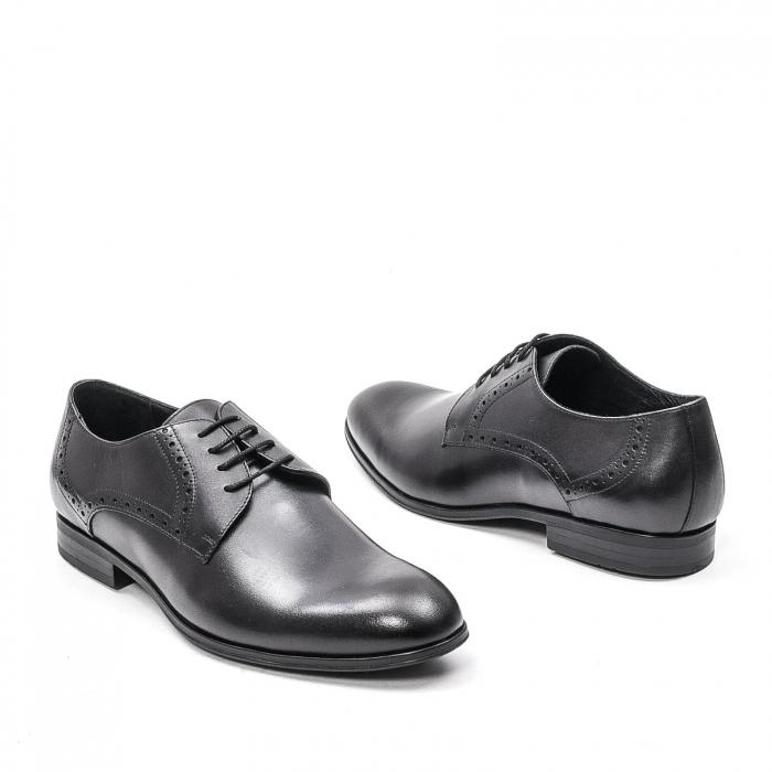 Pantofi eleganti barbat, piele naturala LFX 512, negru 1