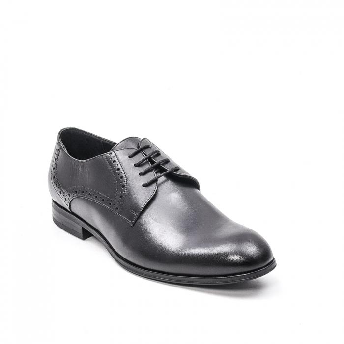 Pantofi eleganti barbat, piele naturala LFX 512, negru 0