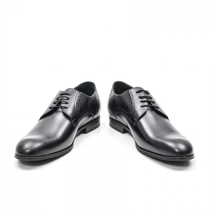 Pantofi eleganti barbat, piele naturala LFX 512, negru 4