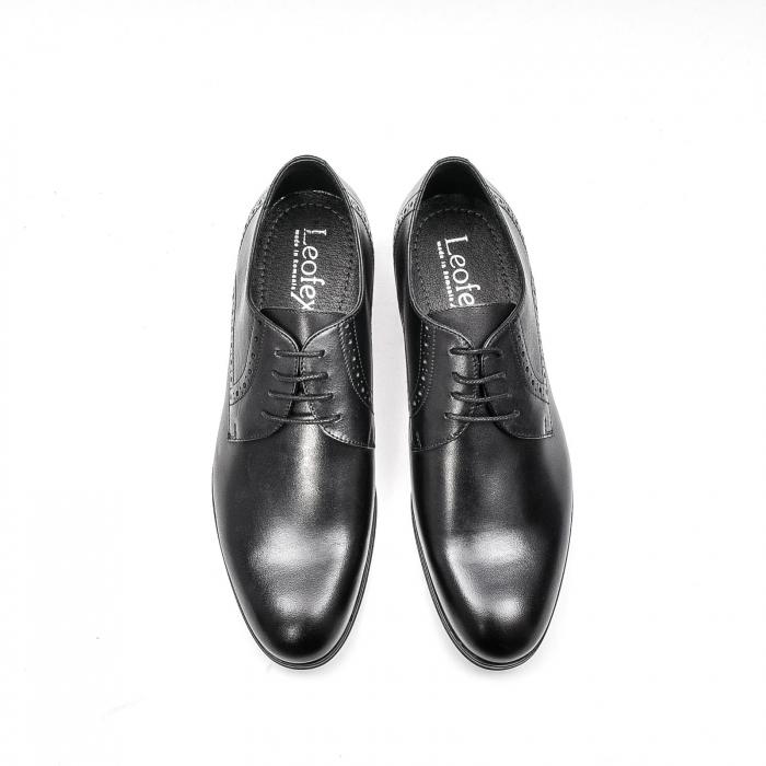 Pantofi eleganti barbat, piele naturala LFX 512, negru 5