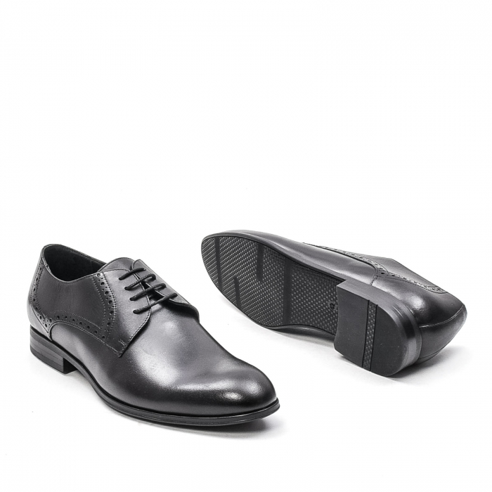 Pantofi eleganti barbat, piele naturala LFX 512, negru 3