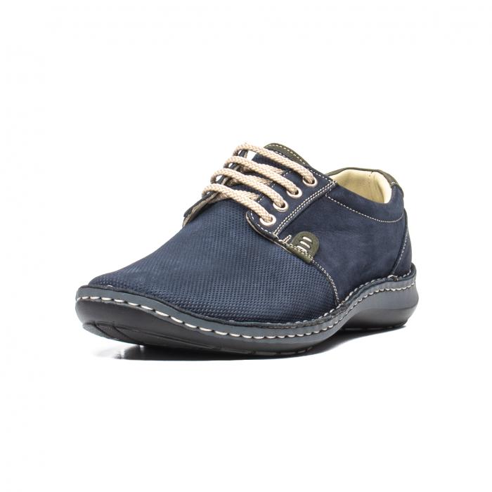 Pantofi barbat casual, piele naturala, OT 9551 bleumarin [0]