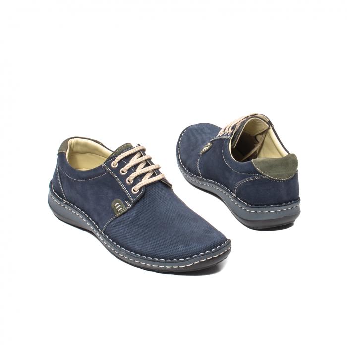 Pantofi barbat casual, piele naturala, OT 9551 bleumarin [2]