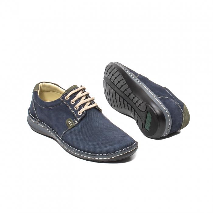 Pantofi barbat casual, piele naturala, OT 9551 bleumarin [3]