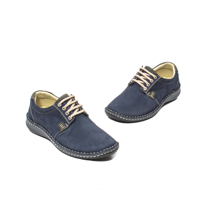 Pantofi barbat casual, piele naturala, OT 9551 bleumarin [1]