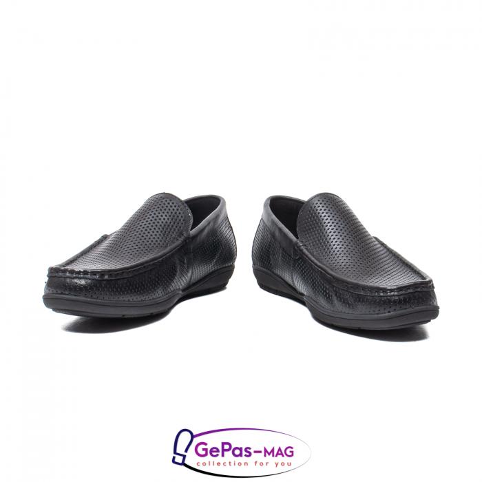 Pantofi barbat de vara tip mocasin, piele naturala, L151330 4