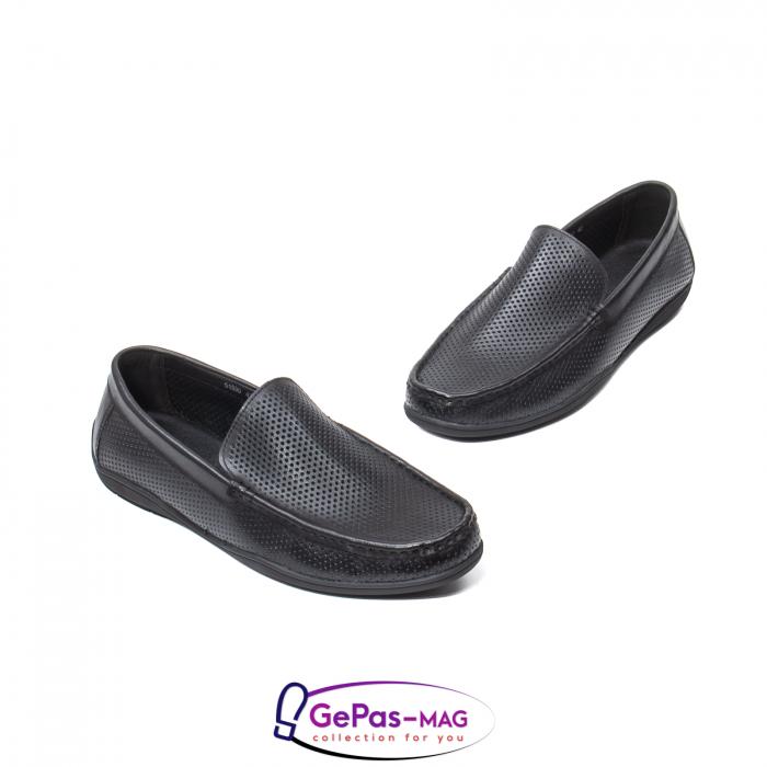 Pantofi barbat de vara tip mocasin, piele naturala, L151330 1