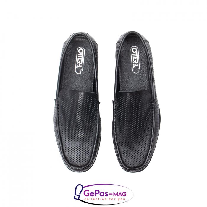 Pantofi barbat de vara tip mocasin, piele naturala, L151330 5