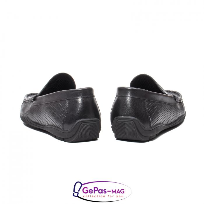 Pantofi barbat de vara tip mocasin, piele naturala, L151330 6