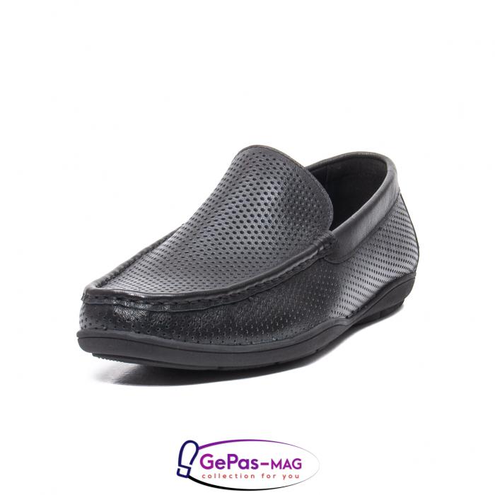 Pantofi barbat de vara tip mocasin, piele naturala, L151330 0