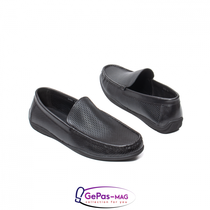 Pantofi barbat de vara tip mocasin, piele naturala, L151330 2
