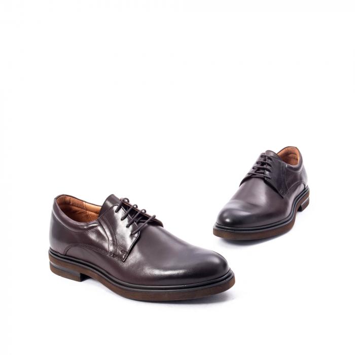 Pantofi barbat din piele naturala  998 mogano 1