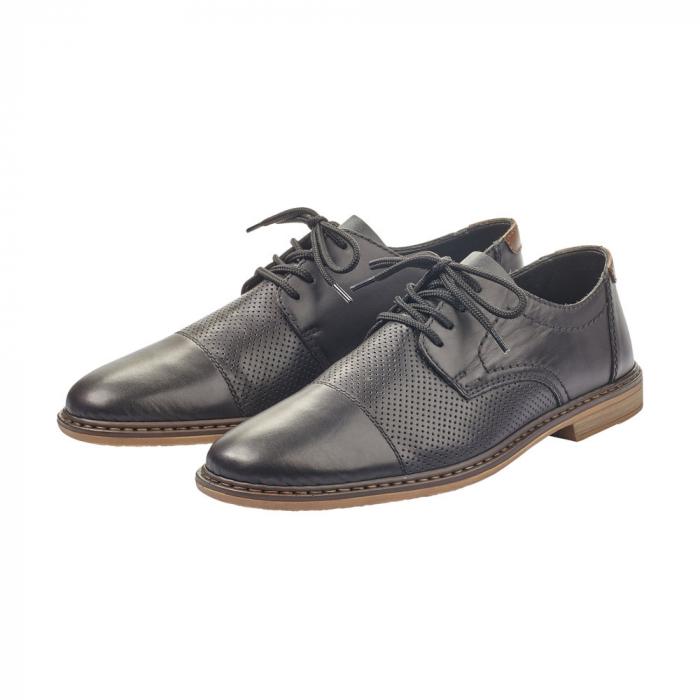 Pantofi barbati casual din piele naturala Rieker 13427-00 4