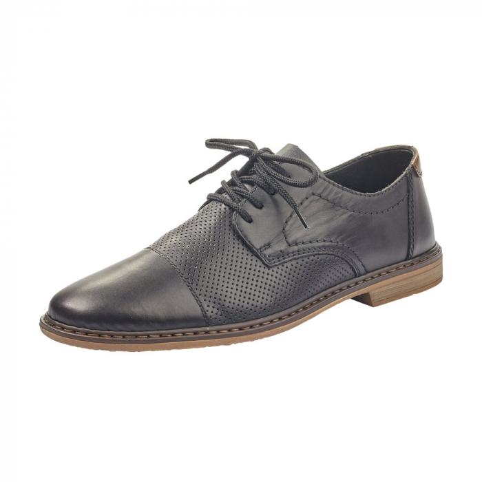 Pantofi barbati casual din piele naturala Rieker 13427-00 0