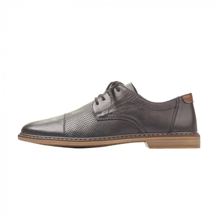 Pantofi barbati casual din piele naturala Rieker 13427-00 6