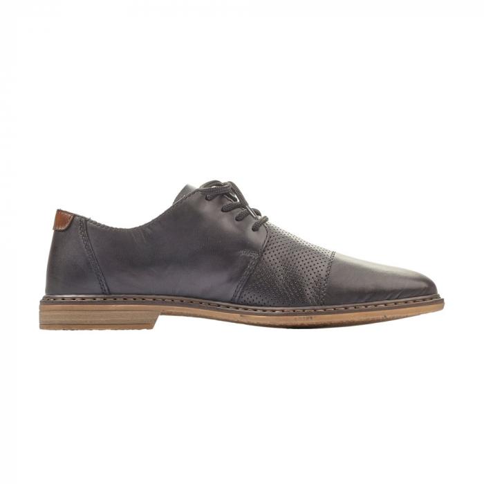 Pantofi barbati casual din piele naturala Rieker 13427-00 5