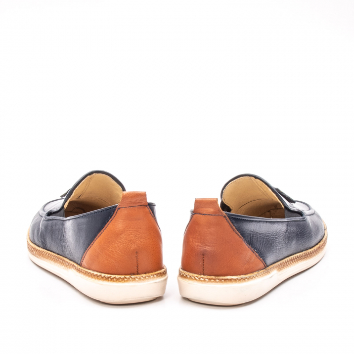 Pantofi barbati casual din piele naturala, 191544STAR, bleumarin 6