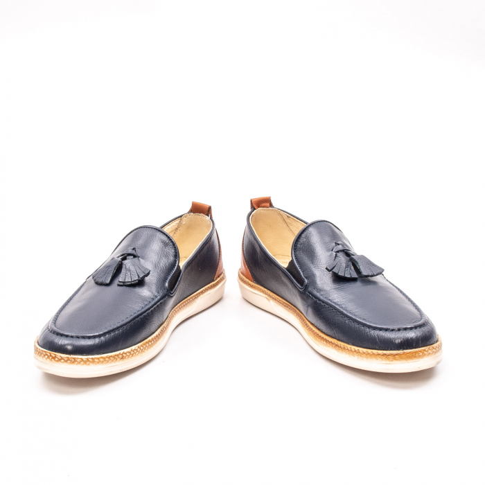 Pantofi barbati casual din piele naturala, 191544STAR, bleumarin 4