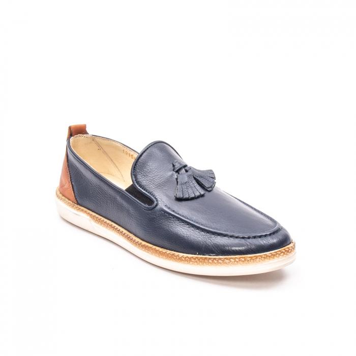 Pantofi barbati casual din piele naturala, 191544STAR, bleumarin 0