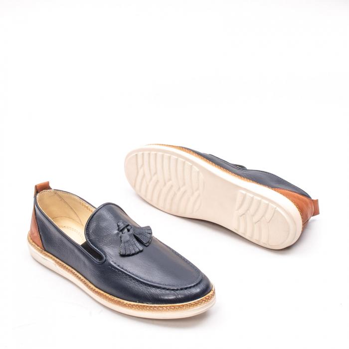 Pantofi barbati casual din piele naturala, 191544STAR, bleumarin 3