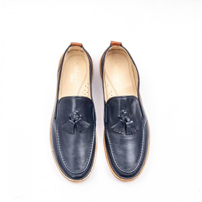 Pantofi barbati casual din piele naturala, 191544STAR, bleumarin 5
