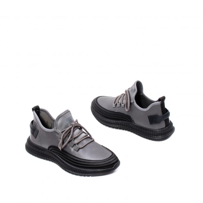 Pantofi barbati casual, piele naturala, E6YD96561 G 2