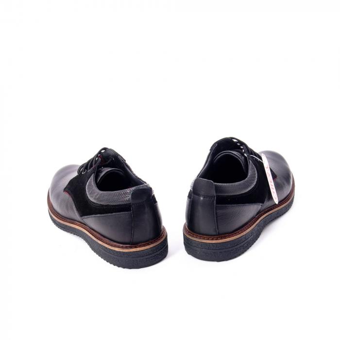 Pantofi barbati casual piele naturala, Otter 020, negru 6
