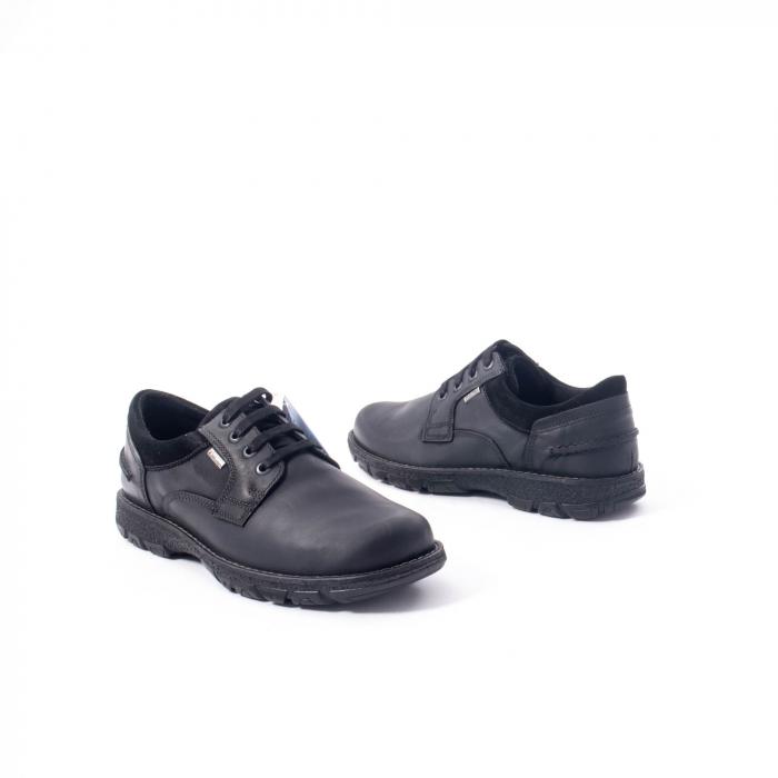 Pantofi barbati casual piele naturala Imac ic402428, negru 2