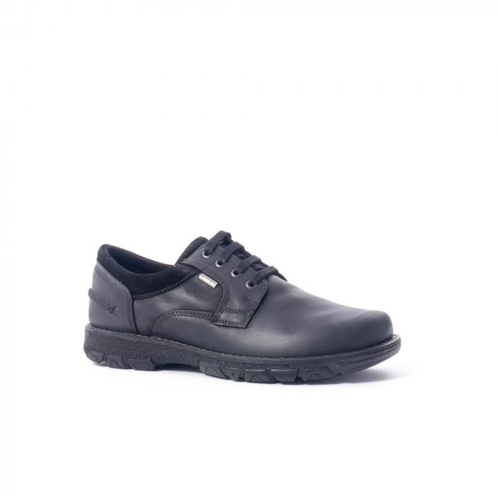 Pantofi barbati casual piele naturala Imac ic402428, negru 0
