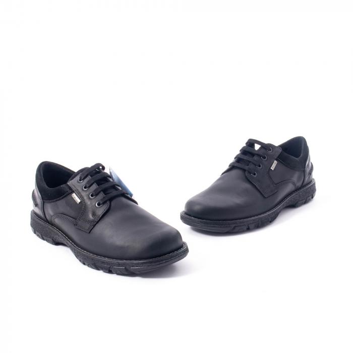 Pantofi barbati casual piele naturala Imac ic402428, negru 1