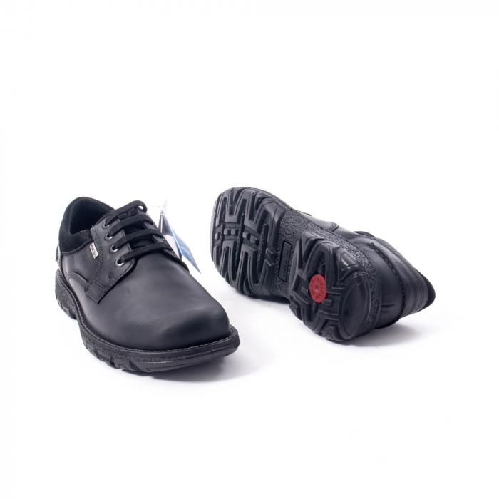 Pantofi barbati casual piele naturala Imac ic402428, negru 3