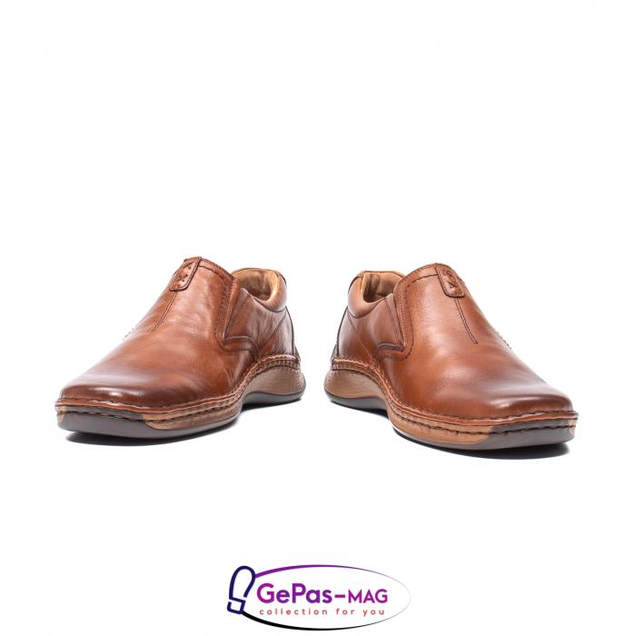 Pantofi casual barbati, piele naturala, LFX 919, coniac [4]