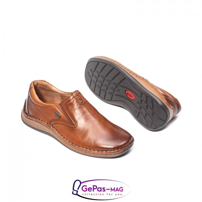 Pantofi casual barbati, piele naturala, LFX 919, coniac [3]