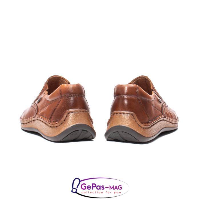 Pantofi casual barbati, piele naturala, LFX 919, coniac [6]