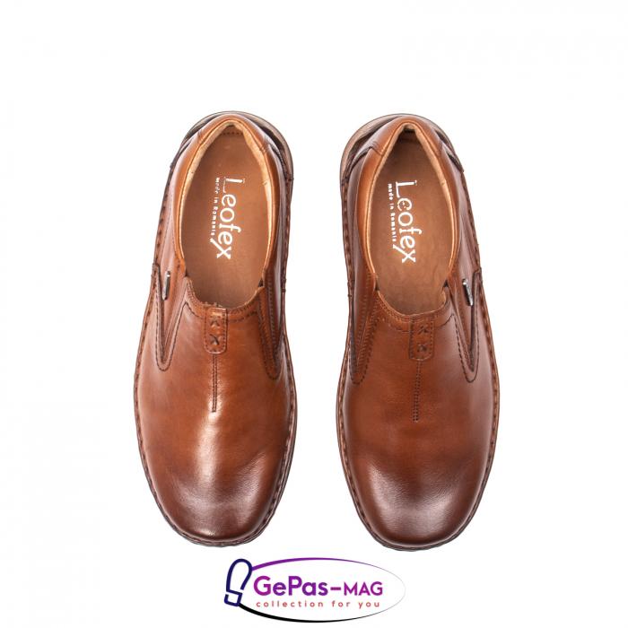 Pantofi casual barbati, piele naturala, LFX 919, coniac [5]