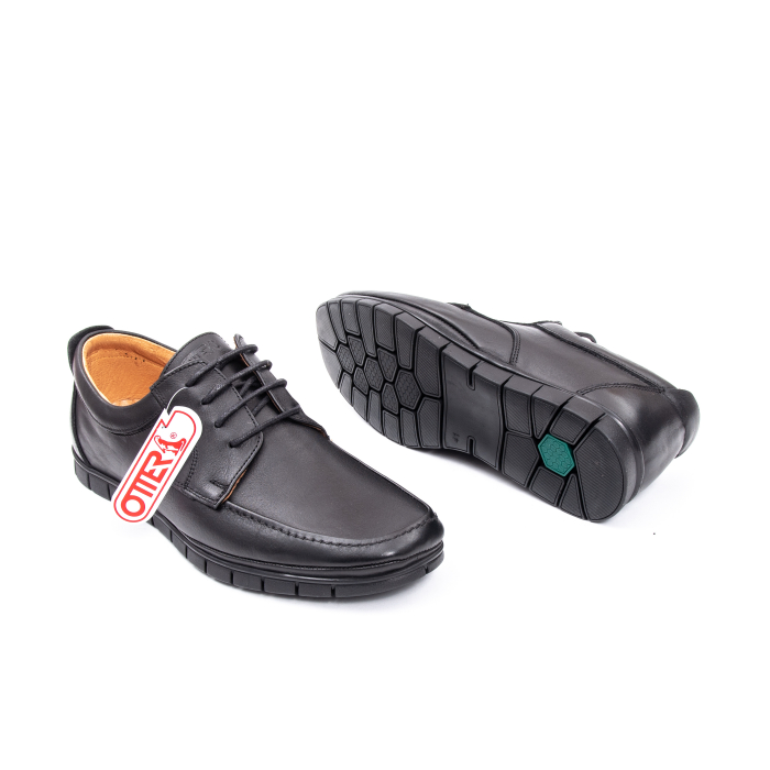 Pantofi barbati casual piele naturala Otter 20915 01-N, negru 3