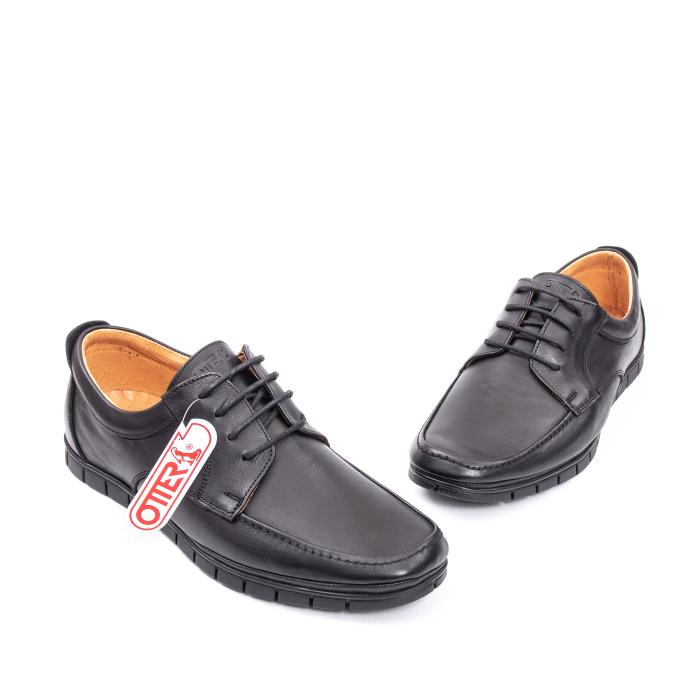 Pantofi barbati casual piele naturala Otter 20915 01-N, negru 1