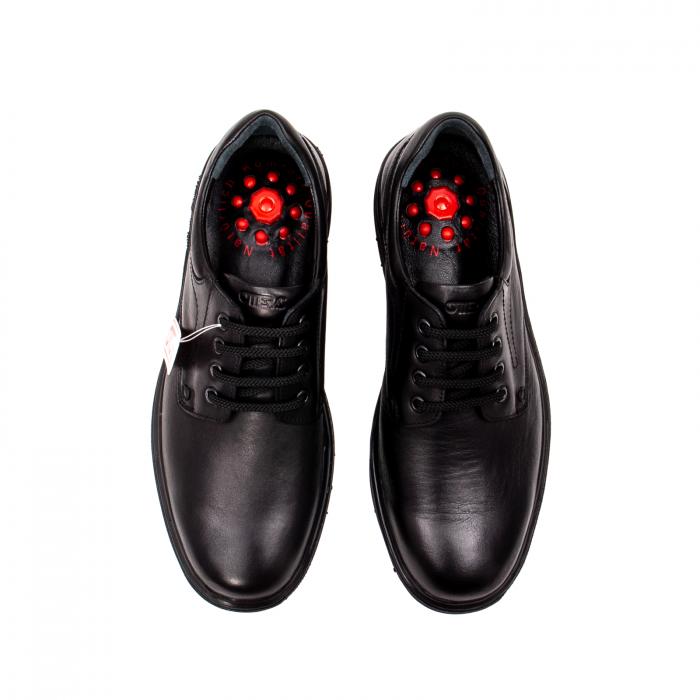 Pantofi barbati casual, piele naturala Otter 2804, negru 5
