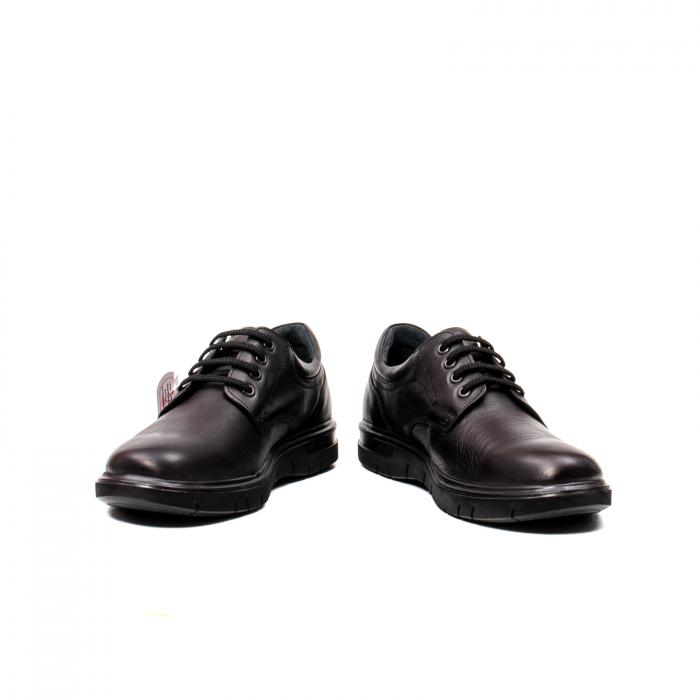 Pantofi barbati casual, piele naturala Otter 2804, negru 4