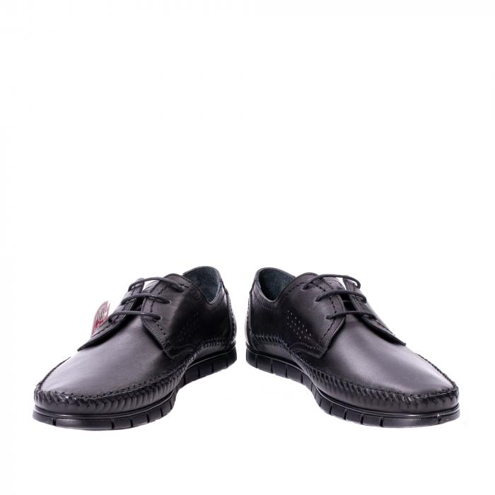 Pantofi barbati casual piele naturala Otter 3205 negru [4]