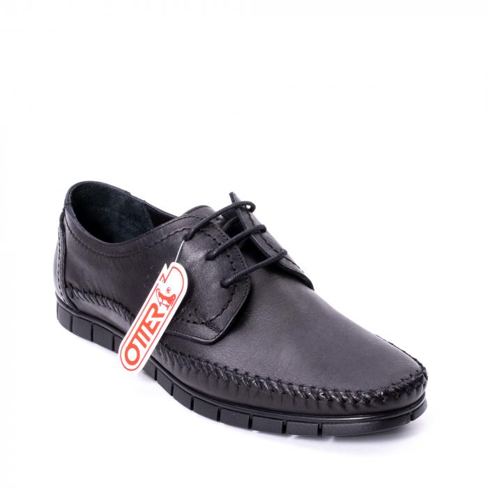 Pantofi barbati casual piele naturala Otter 3205 negru [0]