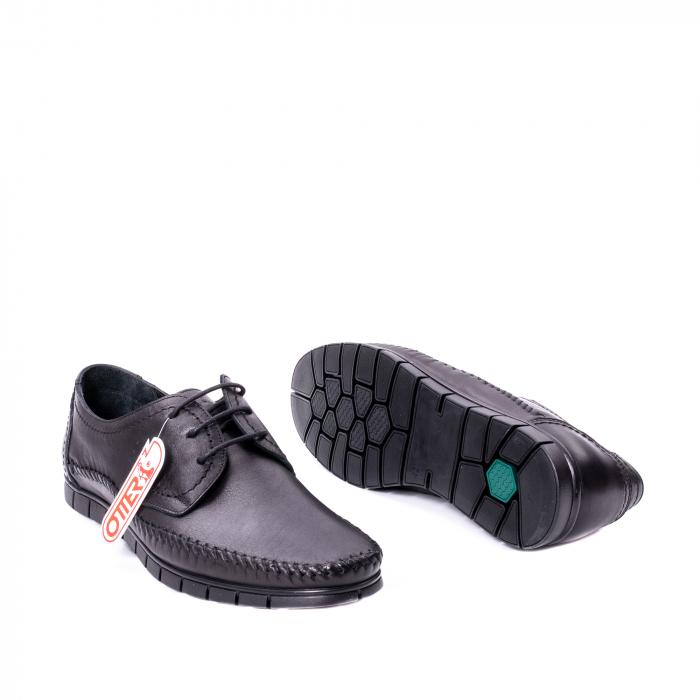 Pantofi barbati casual piele naturala Otter 3205 negru [3]