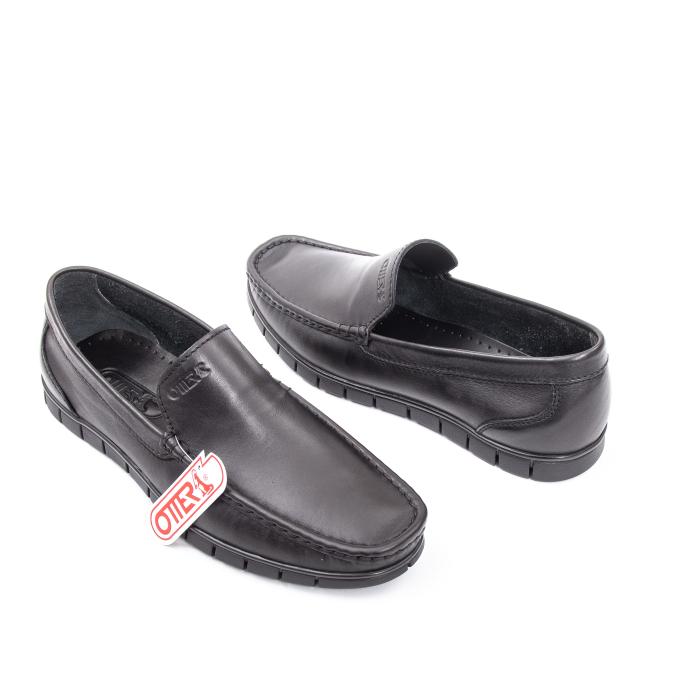 Pantofi barbati casual piele naturala Otter 3206 negru 1